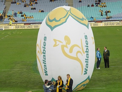 Inflatable Wallabies Football ceremony